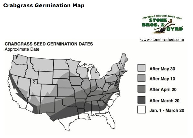 Crabgrass Germination Map