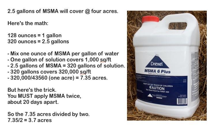 MSMA Mix Rates