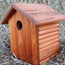 Redwood Bluebird House
