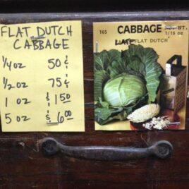 Flat Dutch Cabbage