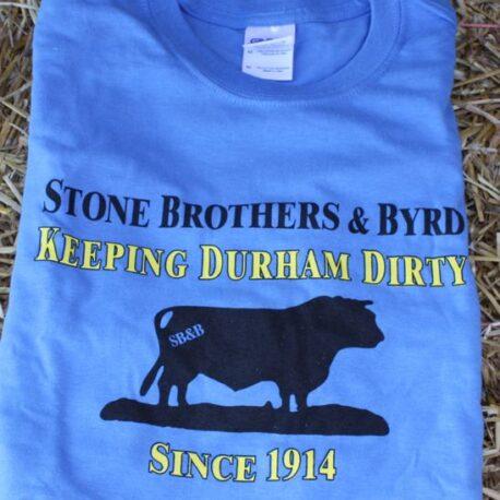 dirty durham t-shirt  blue