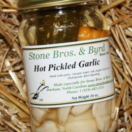 Hot Pickled Garlic